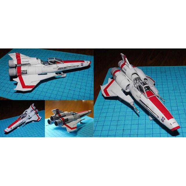 Battlestar Viper 2 Viper Mk2 3D Paper Model DIY Handmade Spacecraft Toy 3
