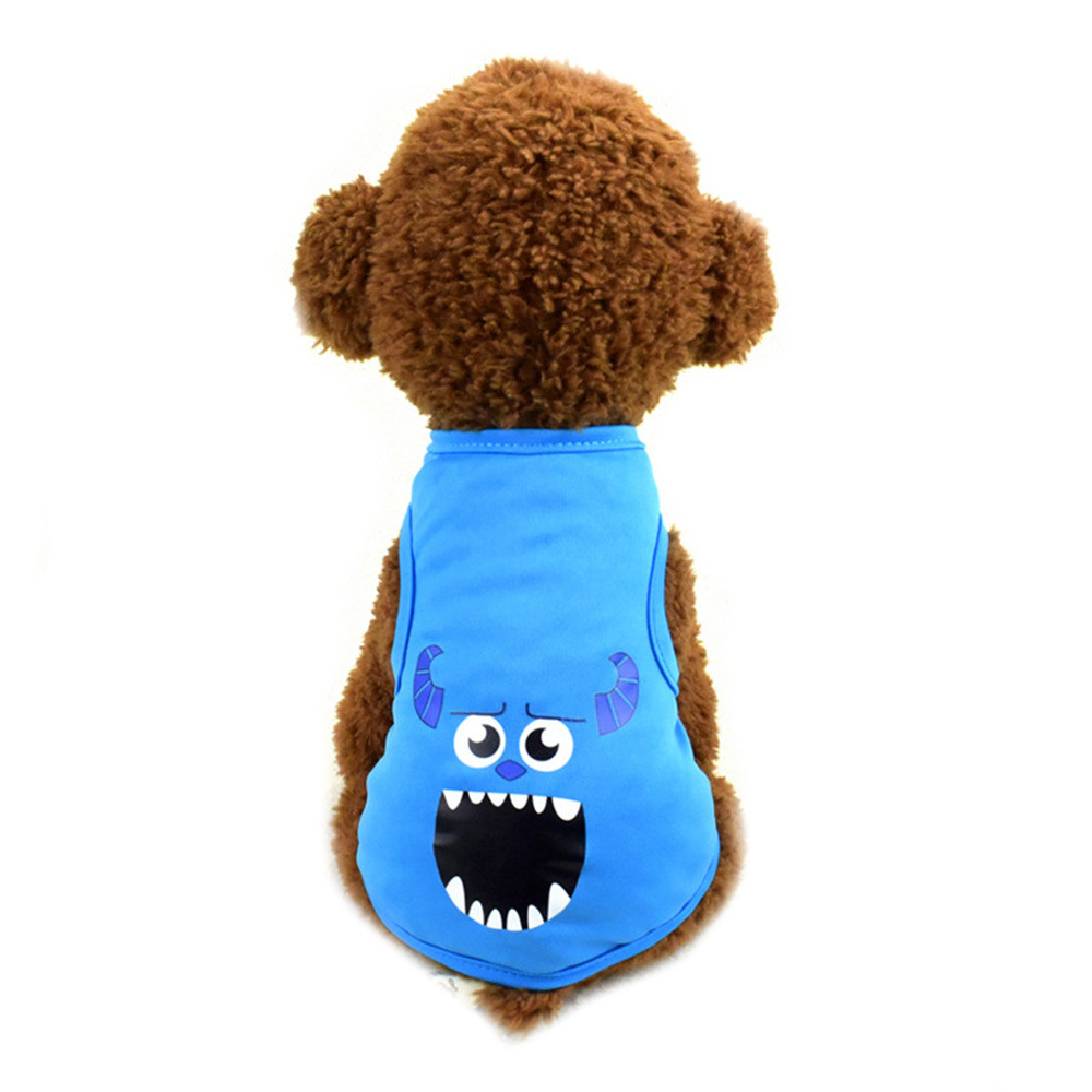 Pet Cat Clothes for Cats Summer Vest T Shirt Dog Cat Clothes Costume for Small Dogs Cartoon Vest for Puppy 35 (14)