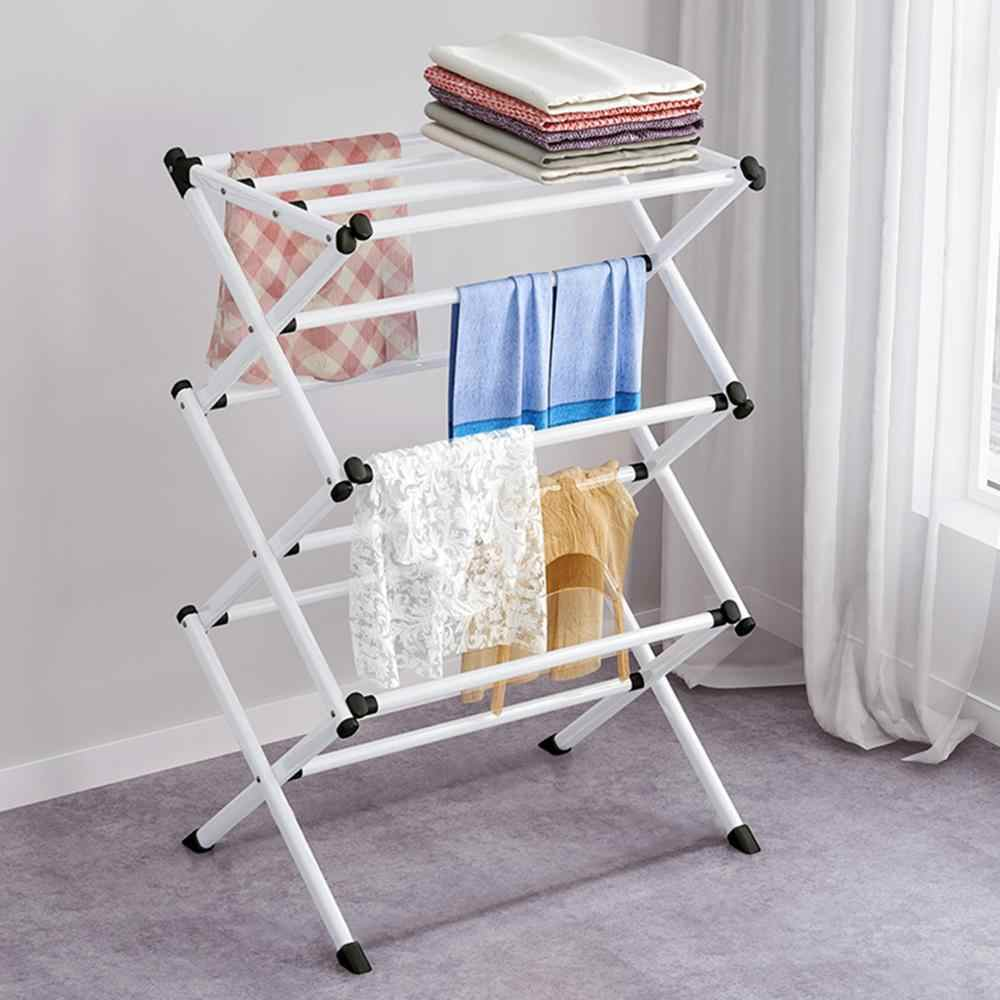 3 tier airer clothes dryer metal laundry horse patio drying rack indoor outdoor foldable clothes drying laundry rack ru shipping