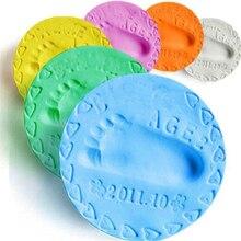 Footprint-Imprint-Kit Inkpad Soft-Clay Hand Casting Fingerprint Parent-Child Air-Drying