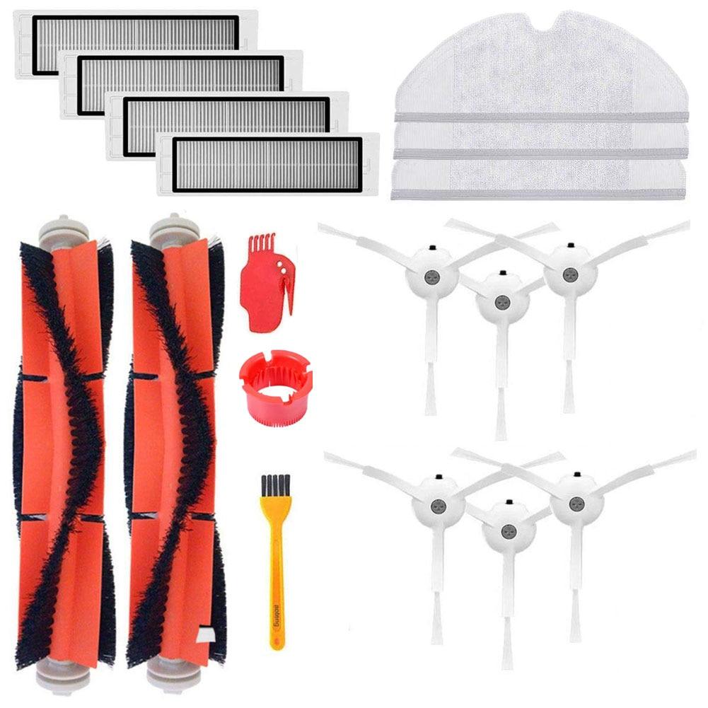 Original Robot Vacuum Part Pack Of HEPA Filter Main Brush Side Brush For Xiaomi Roborock E35 S50 S6 Roborock Vacuum Accessories