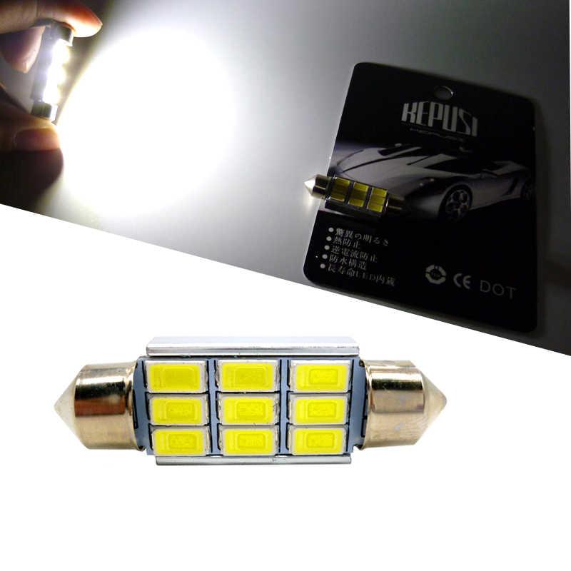 Festoon 31mm 36mm 39mm 41mm 5630 LED voiture dôme lumière C3W C5W C10W Auto intérieur lecture lampe plaque d'immatriculation ampoule CANBUS