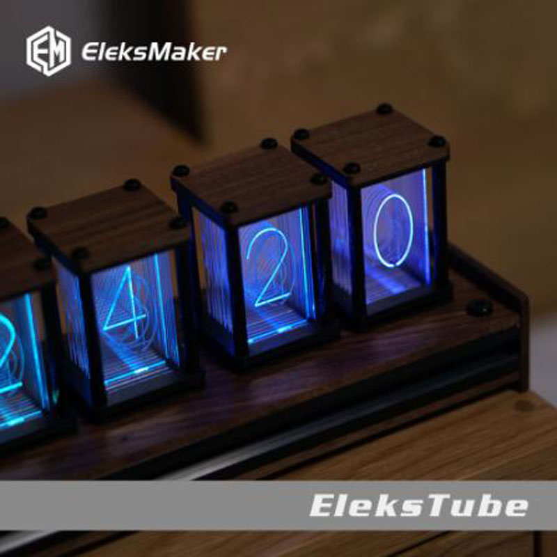 RGB pseudo glow tube clock DIY kit LED desktop creative decoration 4 orders 1
