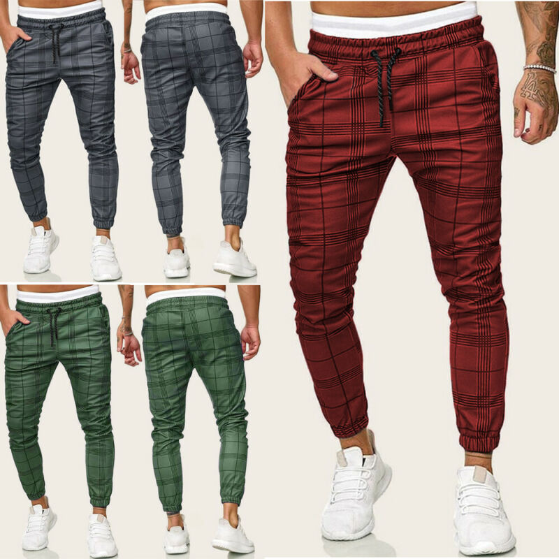 2020 HOT Autumn Winter New Fashion Men Casual Gym Long Sport Pants Slim Fit Trousers Running Joggers Gym Sweatpants Plus Size