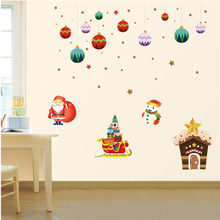 Cartoon Wall Stickers For Kids Rooms Affixed With Decorative Wall Window Stickers Muraux Pour Enfants Chambres 30OCT16(China)