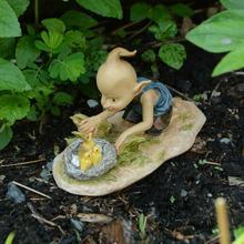 Everyday Collection Miniature Fairy & Terrarium Garden Pixie Elf and Bunny Duck Dollhouse Garden Ornament Decoration Crafts