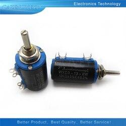 2 шт./лот WXD3-13-2W 10K ohm WXD3-13 2 Вт Электрический поворотный сбоку Ротари многооборотный проволочный потенциометр в наличии