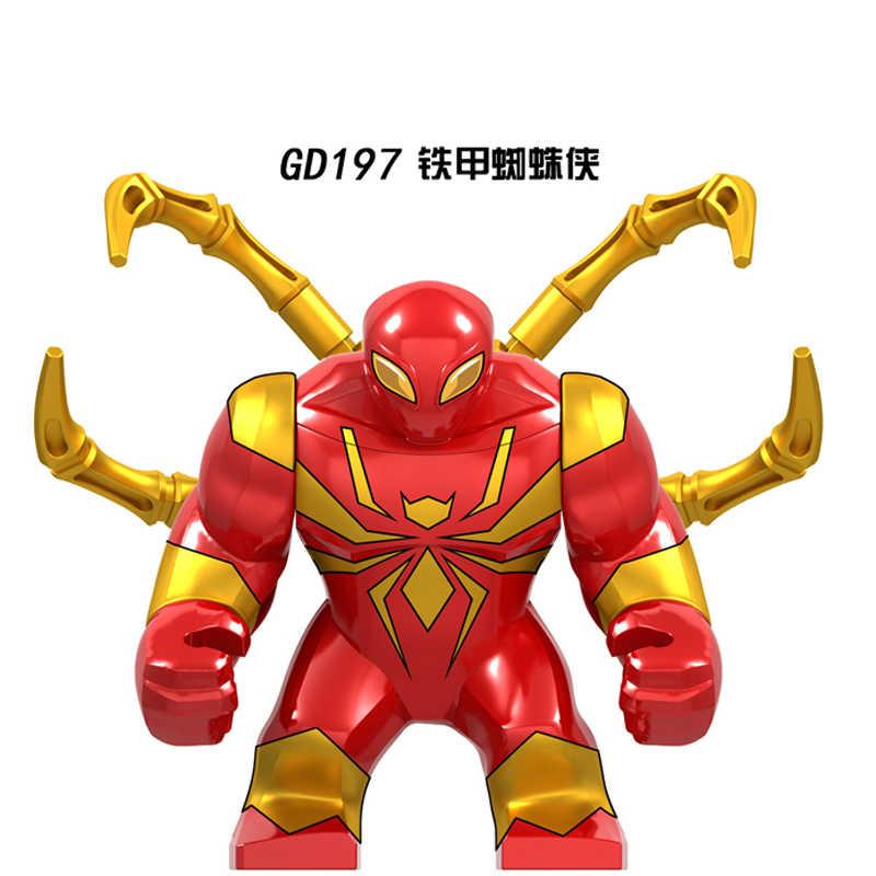 Spider man 7cm Big Marvel figure dark Spider-man Far From Home Thanos Hulk Iron Man Black Panther Building Blocks bricks kid toy