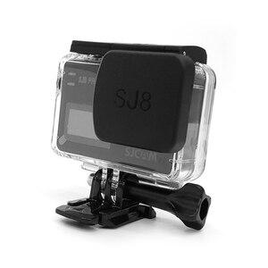 Image 4 - Sj8 pro/plus/air 카메라 렌즈 캡 방수 하우징 후드 용 슈퍼 hd 스크린 보호 필름 프레임 홀더 sjcam sj8 액세서리 용