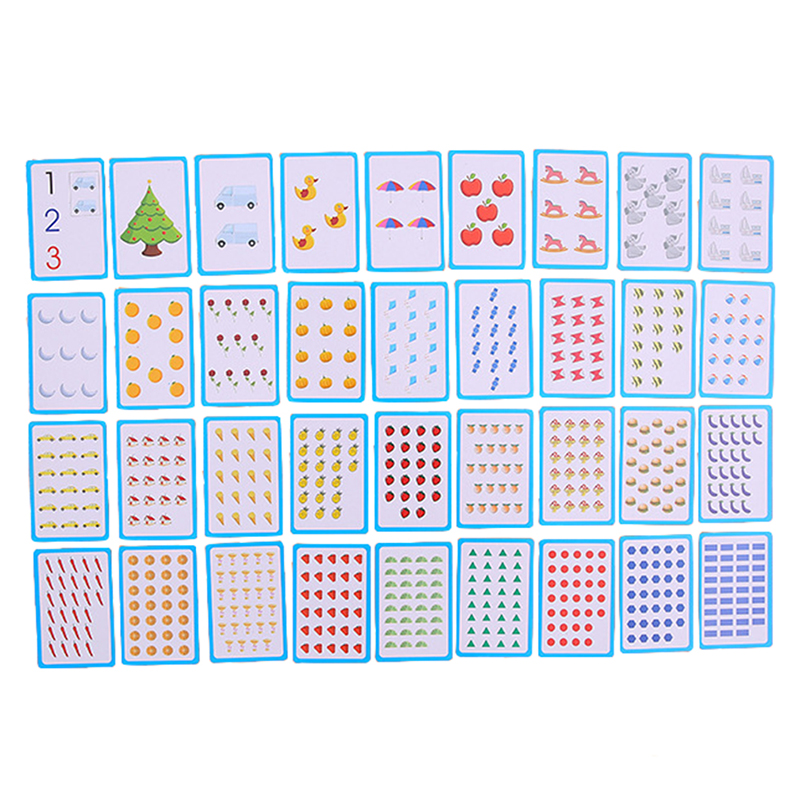 36pcs/set Children Baby English Learning Letter Number Card Learning Montessori Educational Toys Word Table Game Card