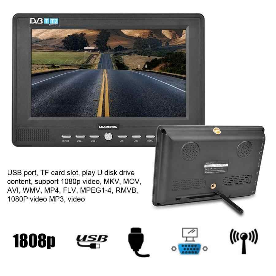 LEADSTAR 7 ''przenośna podręczna telewizja cyfrowa DVB-T/T2 16:9 ATSC 800*480 1080P telewizja analogowa/ATV odtwarzacz telewizyjny Mini telewizor samochodowy (wtyczka brytyjska)