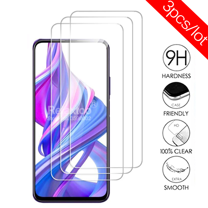 3pcs Protective Glass For Huawei Honor 9x Screen Protector On Honor 9 X STK-LX1 Honor9x Premium Armor Safety Tempered Glass Film