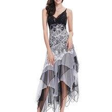 Cocktail-Dresses Coctel Ever Pretty Lace Wedding Elegant Black Sexy White Long Plus-Size