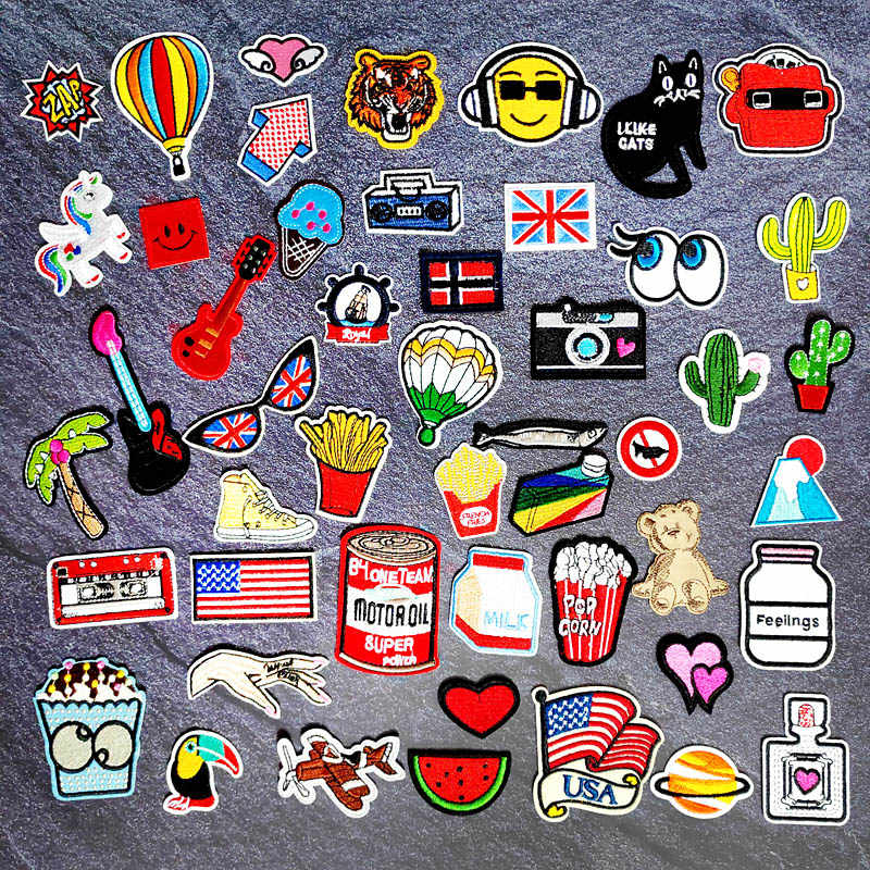 Bandiera nazionale di Musica di Stoffa FAI DA TE Mend Decorare Iron On Sew On Patch Abbigliamento Abbigliamento Cucito Decorazione Applique Toppe e Stemmi Paesaggio