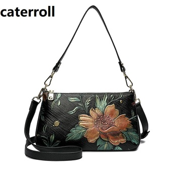 cow leather bags for women 2020 luxury handbags women bags designer shoulder bag floral genuine leather bag