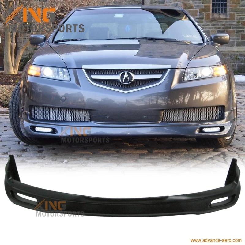 Fit For 04 06 Acura Tl Base Sedan 4dr Jdm Style Front Bumper Lip Spoiler Bodykit Black Pu Bumper Lip Spoiler Front Bumper Lipbumper Lip Aliexpress