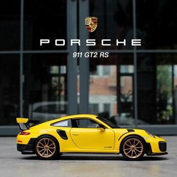 Maisto 1:24 Porsche 911GTR coche de simulación de aleación de metal modelo artesanías decoración colección juguete herramientas regalo