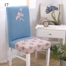 Printed Elastic Chair Cover Dining Spandex Stretch Removable Slipcovers Wedding Home Chair Cover Decoration Supplies Hot Sale(China)