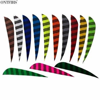 Lote de 50 Uds. De plumas de flecha ONTFIHS de 4 pulgadas en forma de gota, accesorios de caza con arco, pavo Real, Plume, arco recurvo