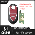YLKGTTER 3 кнопки дистанционного ключа автомобиля для Alfa Romeo Mito Giuliett 147 156 166 GT ключ с 433/434 МГц транспондер PCF7946 чип