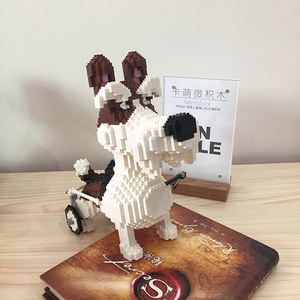 Image 5 - PZX Beagle Hound Schnauzer Dachshund جلد الغنم كلب الحيوانات الأليفة نماذج للحيوانات الأليفة لتقوم بها بنفسك كتل الماس الصغيرة الطوب بناء لعبة الأطفال لا صندوق