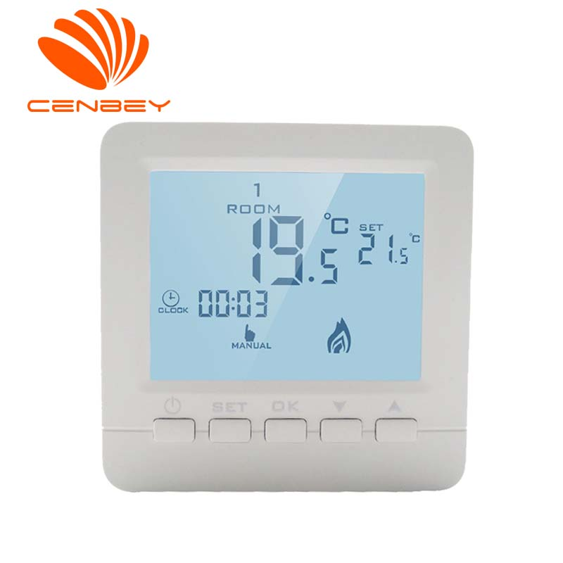 Battery Powered Room Thermostat Gas Boiler Termostat Underfloor Heating Thermostats Heating Controller Central Heating