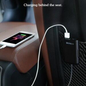 Image 5 - QC3.0 ładowarka samochodowa 1 w 4 USB tylne siedzenie wiersz szybkie ładowanie ładowarka samochodowa telefon komórkowy kabel do szybkiego ładowania dla iPhone samsung xiaomi