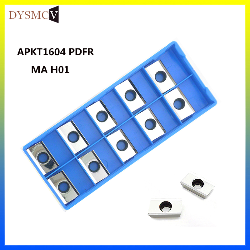 APKT <font><b>1604</b></font> PDFR MA H01 carbide milling inserts for face mill BAP milling cutter for aluminum copper image