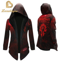World of Warcraft Alliance Tribal Warm Overcoat Long Sleeve Plus WOW Men Women Trench Teens Game Cosplay Clothes