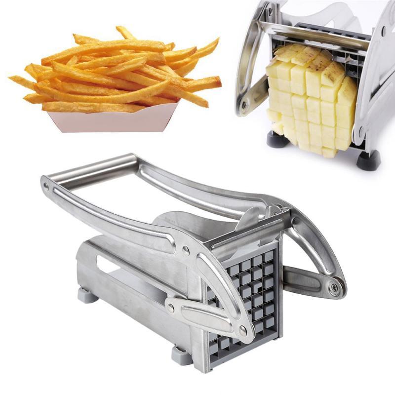Manual de aço inoxidável batata slicer batatas fritas cortador batata chips fabricante carne chopper dicer máquina corte ferramentas para cozinha