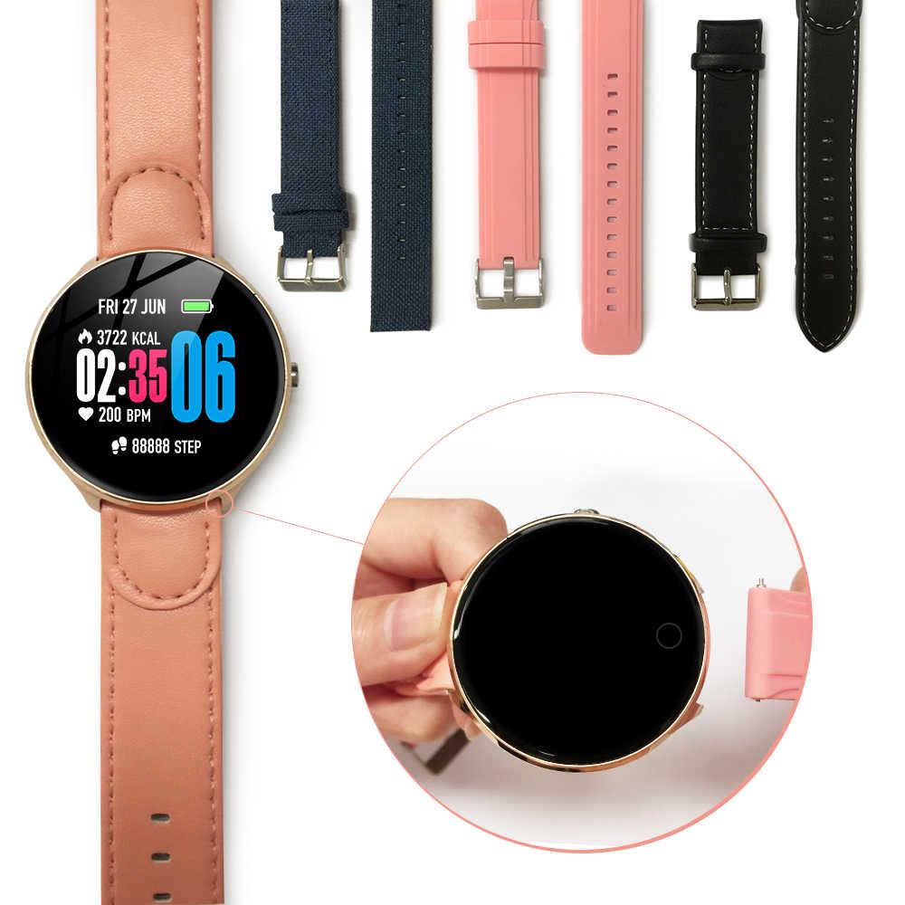 Akıllı saat V12 saat temperli cam ekran su geçirmez kalp hızı izleme kan basıncı erkekler kadınlar Smartwatch