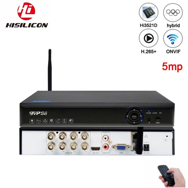 5mp AHD Camera Blue Ray H.265+ Hi3521D Xmeye 4 Channel 4CH/8CH 8 Channel 6 in 1 WIFI Hybrid XVI CVI TVi NVR AHD CCTV DVR|Surveillance Video Recorder| |  - title=