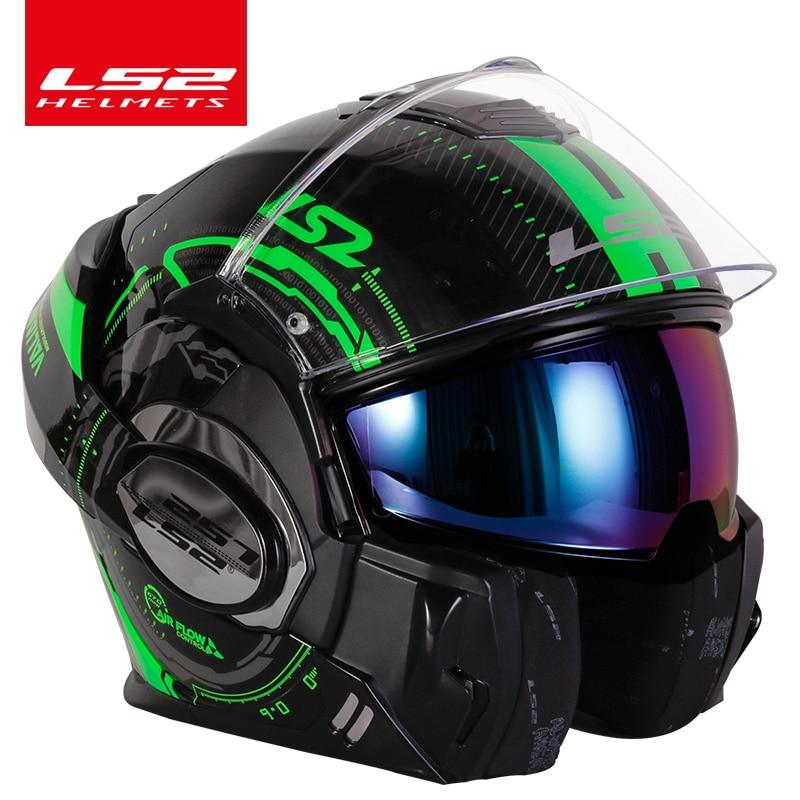 Original LS2 FF399 flip up motorcycle helmet dual visor authentic LS2 Valiant full face helmets moto capacete cascosmotorcycle helmet flipmotorcycle helmet flip updual visor -