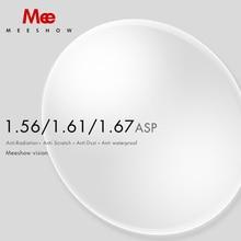 Meeshow 1.56 1.61 1.67 1.74 처방 렌즈 CR 39 수지 비구면 안경 렌즈 근시 원시 원시 렌즈