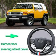High Quality Car Non-slip carbon fiber leather car steering wheel cover for Toyota FJ CRUISER high quality brand new power steering rack assy for toyota corolla car steering rack