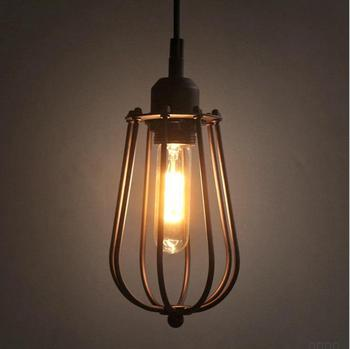 Loft retro industrial style citron chandelier restaurant bar aisle lamp American country creative personality iron lamp