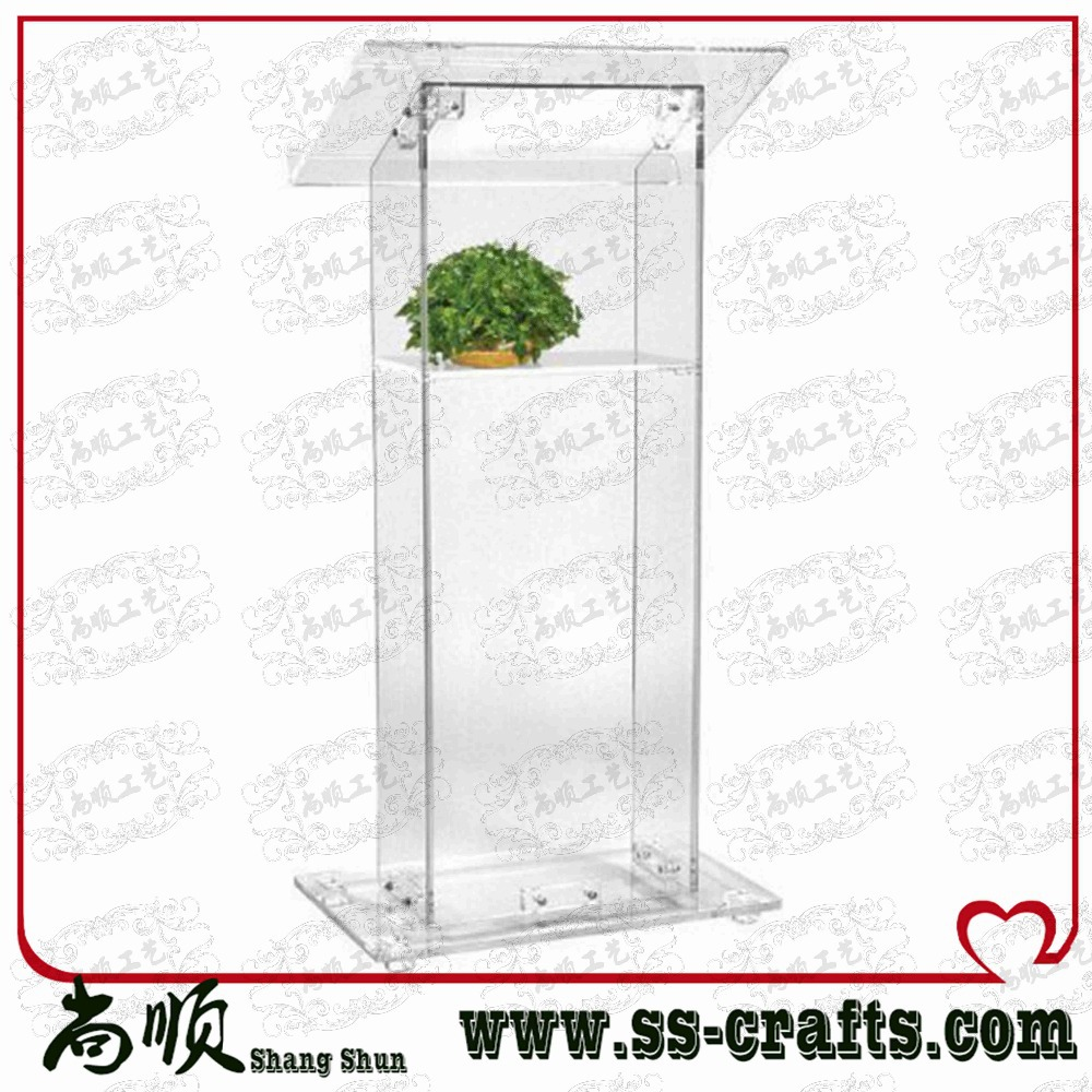 Acrylic Lectern/Podium, Lucite Rostrum/Pulpit, Acrylic Dais Plexiglass