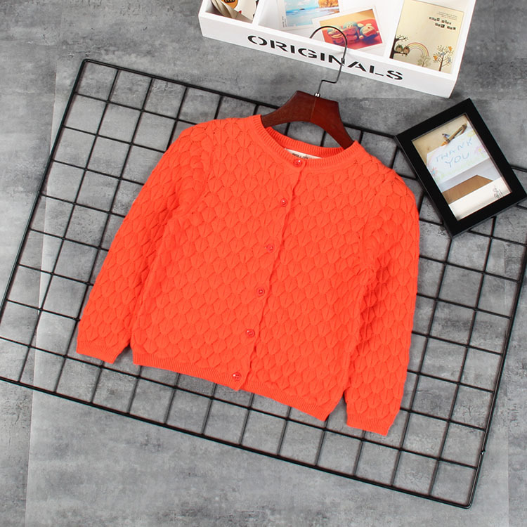Three-Color Product Arrival! Childrenswear New Style European And American Style Children's Comfortable 100% Cotton Knit Cardiga