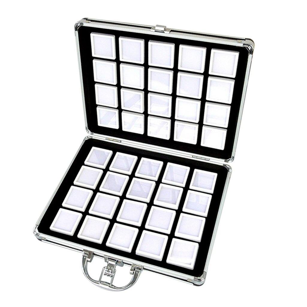 250 Gem Jars Display /& Jewelry Storage Case with Black Inserts
