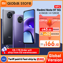 Xiaomi Dimensity 800U Redmi Note-9t 5G 64GB 4gbb WCDMA/LTE/GSM/5G NFC Adaptive Fast Charge