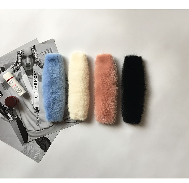 25cm Replacement Bag Strap Genuine Real Mink Fur Handbag Should Straps Handle For Women Purse Belts Charm Winter Accessories