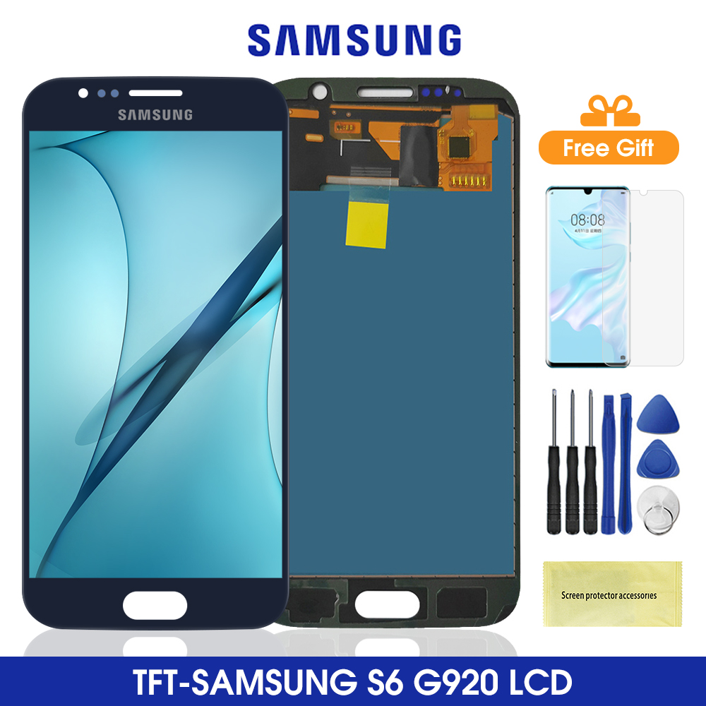 G920 LCD For <font><b>SAMSUNG</b></font> GALAXY <font><b>S6</b></font> Lcd Display Touch Screen Digitizer Assembly For <font><b>Samsung</b></font> G920 <font><b>SM</b></font>-<font><b>G920F</b></font> <font><b>G920F</b></font> G920FD image
