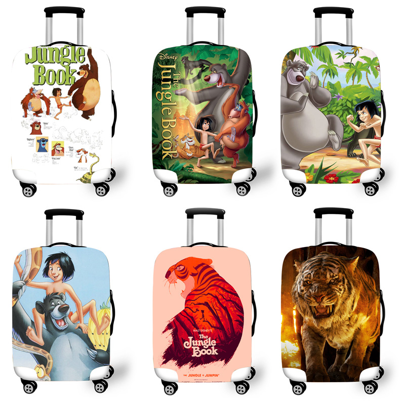 Elastic Luggage Protective Cover Case For Suitcase Protective Cover Trolley Cases Covers 3D Travel Accessories Forest Pattern T6
