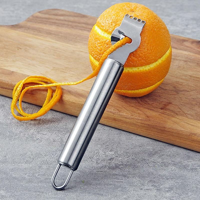 Kitchen Gadgets Stainless Steel Lemon Peeler Zester Grater Lime Orange Citrus Fruit Grater Knife Peeling Tools