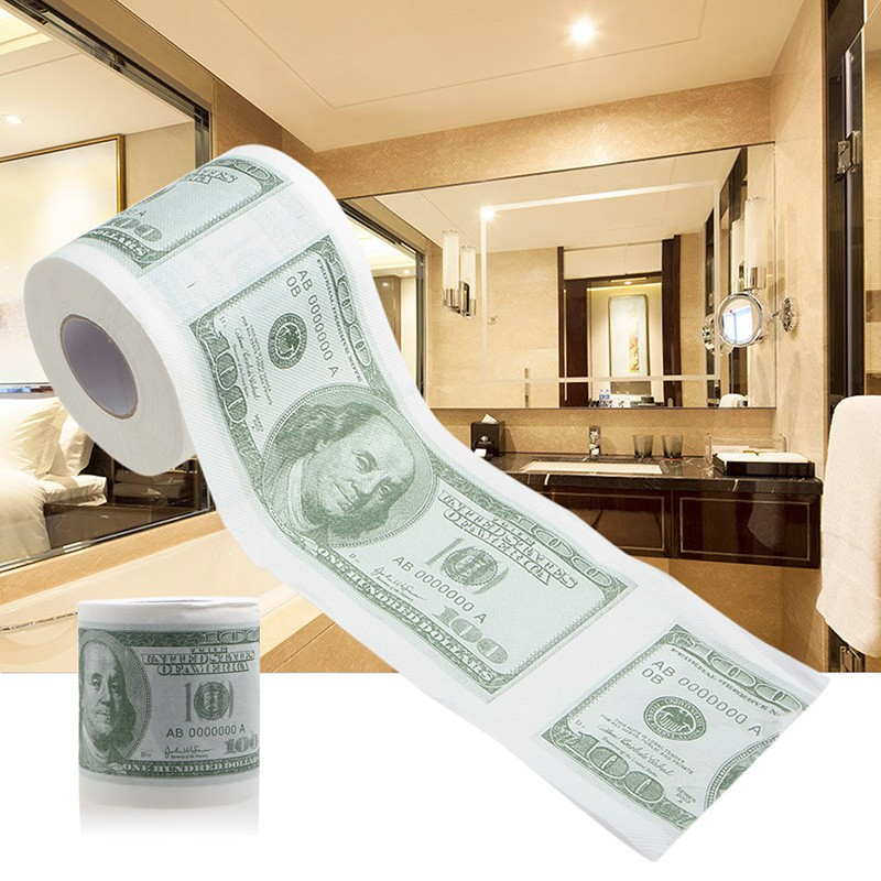 1Pc Funny One Hundred Dollar Bill Toilet Roll Paper Money Roll $100 Novel Gift Sanitary Paper|Paper Napkins & Serviettes|   - AliExpress