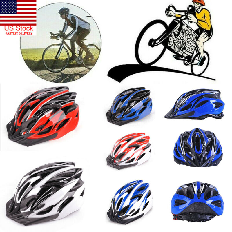 New Cycling Bicycle Adult Men Womens Bike Helmet With Visor Mountain Shockproof