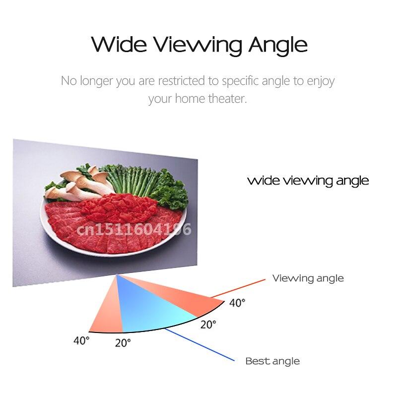 AUN анти-Светильник проектор Экран 16:9 светоотражающая ткань 60/100/120 дюймов для домашнего кинотеатра, ALR Экран для проектор AUN светодиодный/DLP