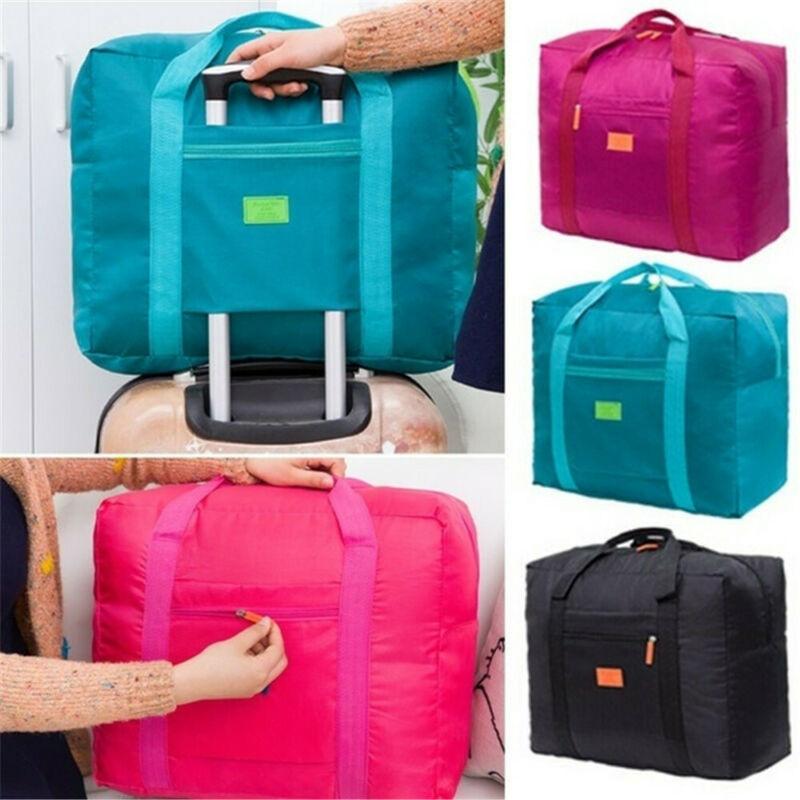 Travel Big Large Size Nylon Foldable Waterproof Luggage Bag Storage Carry-On Duffle Bag 45x31x19cm