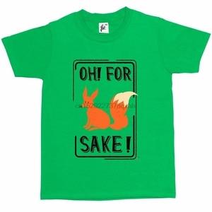 Oh For Fox Sake Funny Joke Present Kids Boys Girls T-Shirt(China)