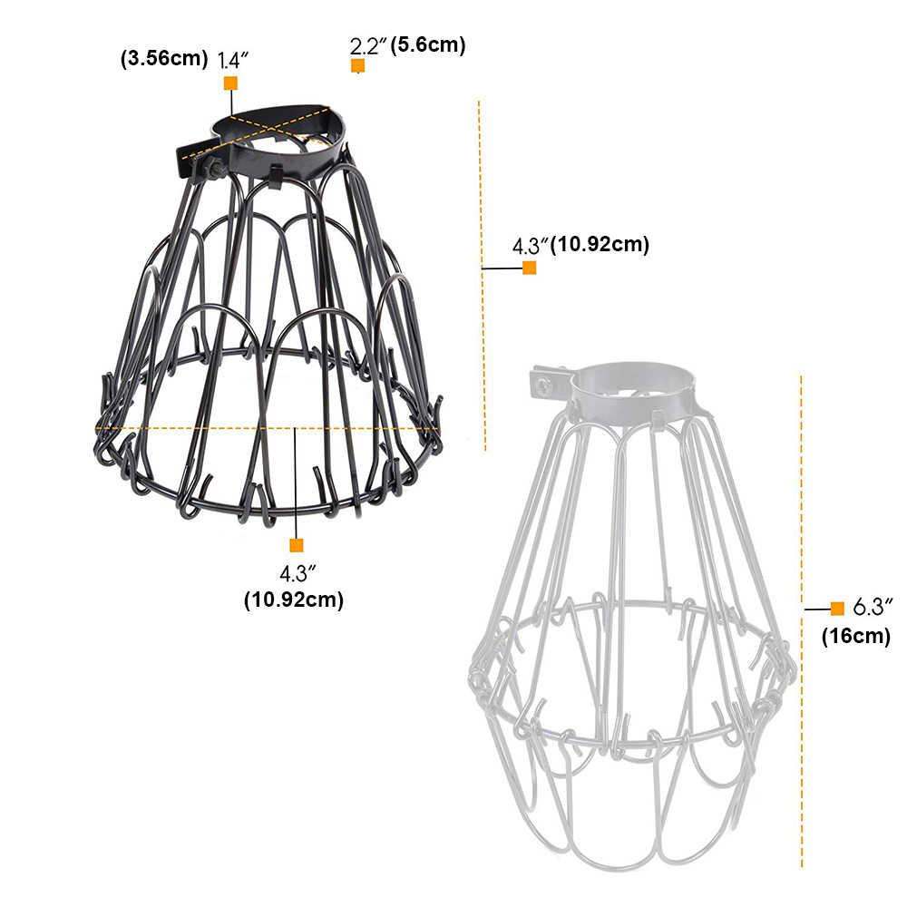 新素朴なインダストリアルヴィンテージスタイルペンダント金属ワイヤー調節可能な照明器具ランプガード電球ガードランプケージ D25